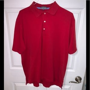 Alan Flusser pearl washed cotton golf shirt